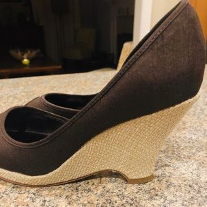 Unlisted Brown Wedge Sandals
